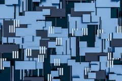 3d la rappresentazione, cubi si imbarca sulla struttura, fondo del circuito royalty illustrazione gratis