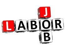 3D Labor Day Job Crossword Stock Images