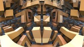 3D Labyrint of Labyrint Stock Foto's