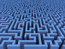 3d labyrinth maze challenge Royalty Free Stock Image