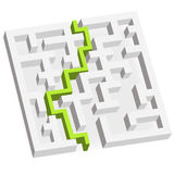 3D labyrinth Stock Photography