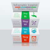 3D ladder infographic template Stock Photos