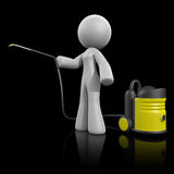3d Lady Pressure Washer on Dark Royalty Free Stock Photos