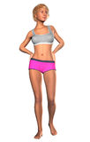 3d Lady in swimwear. 3d render of a young lady in swimwear Royalty Free Stock Photo