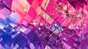 3d lage poly abstracte geometrische achtergrond met moderne gradiëntkleuren 3d kleuren van de oppervlakte blauwe rode violette gr royalty-vrije illustratie