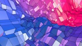 3d lage poly abstracte geometrische achtergrond met moderne gradiëntkleuren 3d kleuren van de oppervlakte blauwe rode violette gr vector illustratie