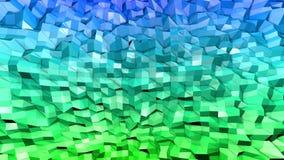 3d lage poly abstracte geometrische achtergrond met moderne gradiëntkleuren 3d kleuren 1 van de oppervlakte blauwgroene gradiënt stock illustratie