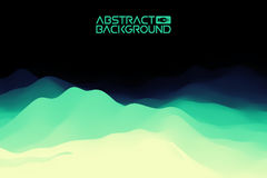 3D landscape Background. green to blue Gradient Abstract Vector Illustration.Computer Art Design Template. Landscape Royalty Free Stock Photos