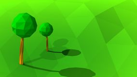 3d landscape low poly illustration Stock Image