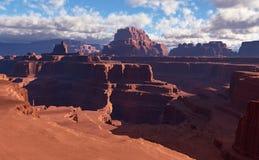 3D landschap van de Fantasiewoestijn Stock Afbeeldingen
