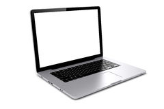 3d laptop with blank screen Stock Photography