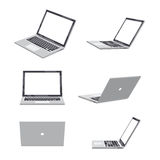 3D Laptop blank. Set of various poses of 3D Laptop blank Royalty Free Stock Images