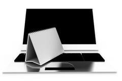 3d laptop calendar concept Royalty Free Stock Photo