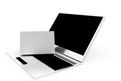3d laptop calendar concept Stock Photos