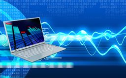 3d laptop computer Royalty-vrije Stock Afbeelding