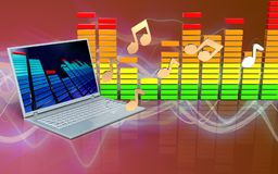 3d Laptop-Computer Anmerkungen Stockbilder