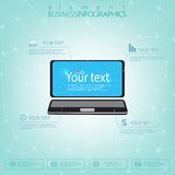 3d laptop computer met plaats voor uw tekst Kan voor Webontwerp, diagram, charnumber opties en voor werkschemalay-out worden gebr Royalty-vrije Stock Afbeeldingen