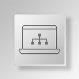 3D laptop diagram icon Business Concept Royalty Free Stock Images