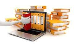 3d laptop i falcówki Zdjęcie Stock