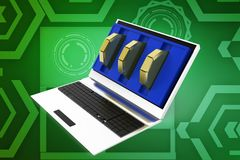 3d laptop illustration Royalty Free Stock Images