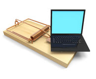3d Laptop mousetrap Royalty Free Stock Photos