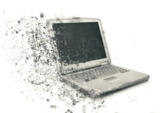 3D laptop with pixelated effect Royalty Free Stock Photo
