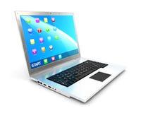 3d laptop Stock Photos