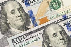 D?lar del dinero del efectivo Fondo con los billetes de d?lar del americano ciento del dinero fotos de archivo libres de regalías