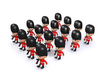 3d Large formation of Coldstream Guards Royalty Free Stock Photos
