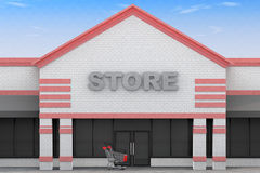 3d Large Store Building Stock Images