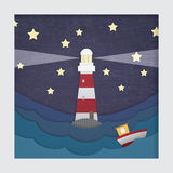 3d latarni morskiej obrazek Zdjęcia Royalty Free