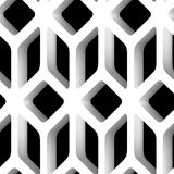 3D Lattice Vector Seamless Pattern. Background Royalty Free Stock Images