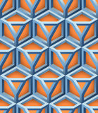 3D Lattice Vector Seamless Pattern. 3D Lattice Seamless Pattern, Based on Impossible Triangle Shape, Vector Illustration Royalty Free Stock Images