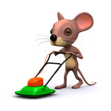3d Lawnmower mouse Stock Photography