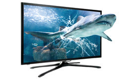 3D LCD SMART TV Stock Photography