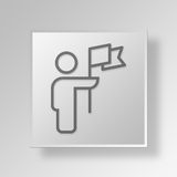 3D le Chef Button Icon Concept illustration de vecteur