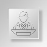 3D le Chef Button Icon Concept illustration stock