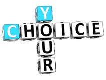 3D le vostre parole incrociate Choice royalty illustrazione gratis