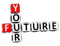3D le vostre parole incrociate future Fotografia Stock