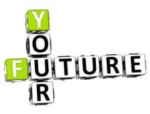 3D le vostre parole incrociate future Immagini Stock Libere da Diritti