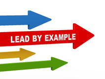 3d lead by example arrow Royalty Free Stock Images