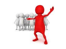 3d leader of business team group. Leadership teamwork concept 3d render illustration Stock Images