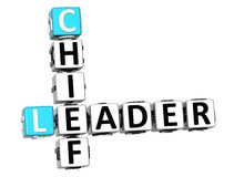 3D Leader Chief Crossword Stock Photos