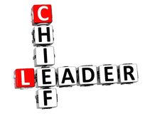 3D Leader Chief Crossword Royalty Free Stock Images