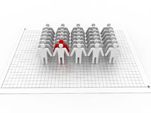 3d leader Stock Photography