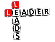 3D Leader Leads Crossword Royalty Free Stock Photo