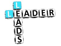 3D Leader Leads Crossword Stock Photo