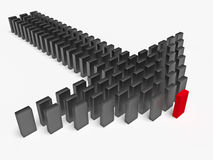 3d leadership concept Royalty Free Stock Photo