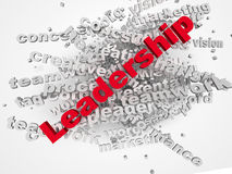 3d Leadership word cloud illustration. Word collage Stock Photos