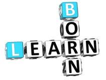 3D Learn Born Crossword Stock Photography